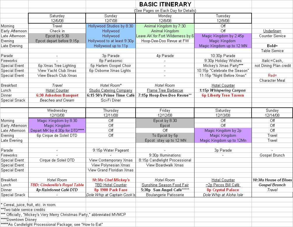 Basic Itinerary Planning Your First Family Walt Disney World Trip 3AeUIZnN